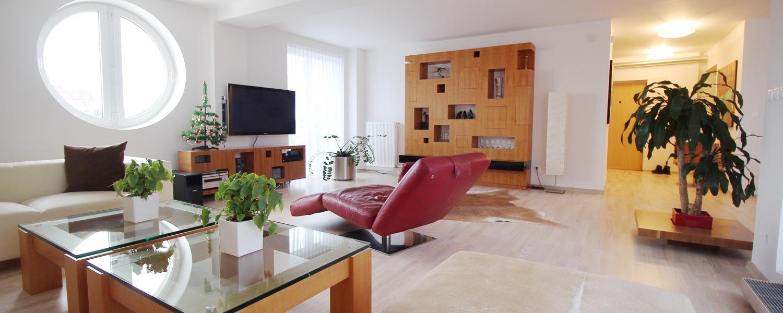 5 izbový mezonet s rozlohou 233m2, terasou o výmere 70m2 a dvojgarážou, Bratislava - Staré Mesto
